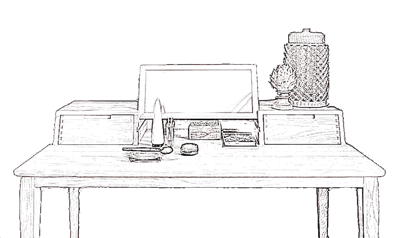 Illustration d'un bureau ambigu