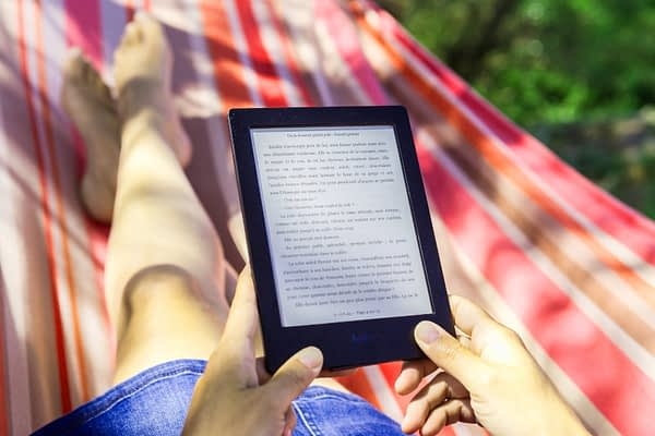 lire un ebook dans un transat