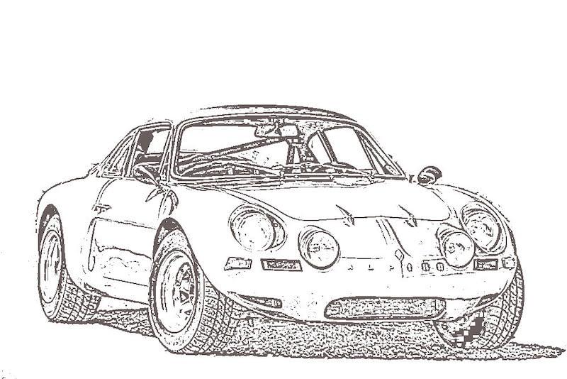 Illustration de la berlinette, l'Alpine A110